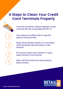 4 steps to clean your credit card machine